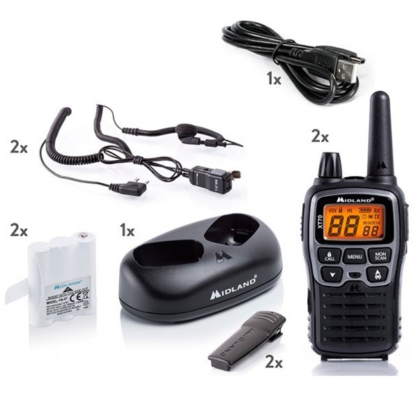 MIDLAND XT70 WALKIE TALKIES