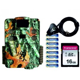 PACK BROWNING STRIKE HD X + SD 16GB + 8 PILAS + CANDADO