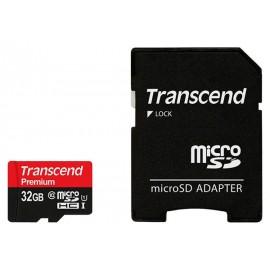 TARJETA MICROSD 32GB CLASE 10 PREMIUM TRANSCEND